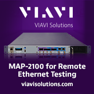 MAP-2100 Rack-mounted test unit for remote BER tests